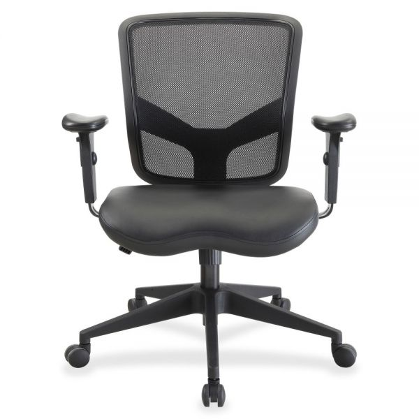 Lorell Mid-Back Leather Chair
