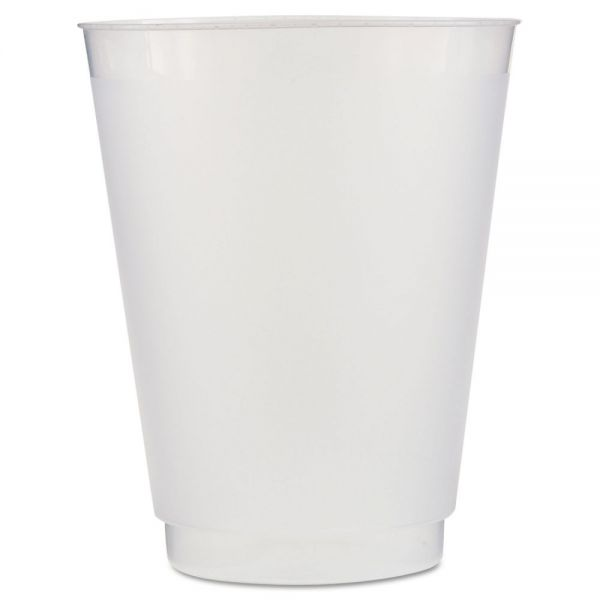 WNA Front Flex Plastic Cups, 16 oz, Frosted/Translucent