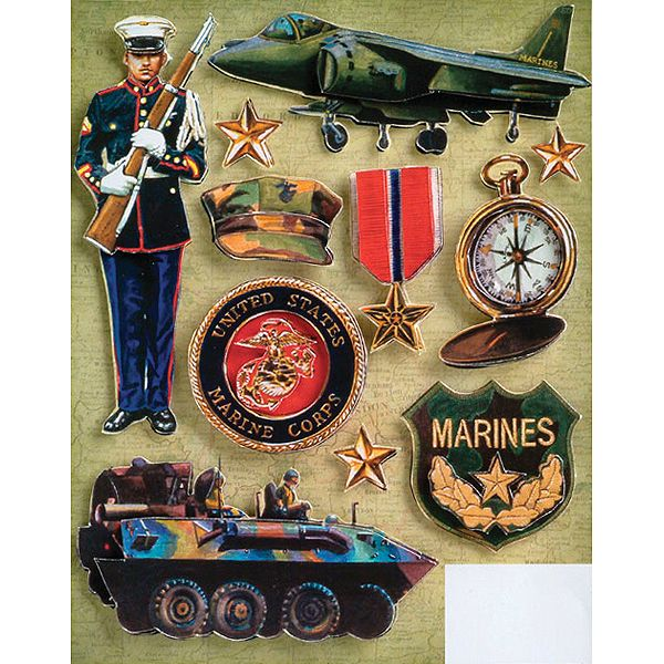 Military Grand Adhesions Embellishments