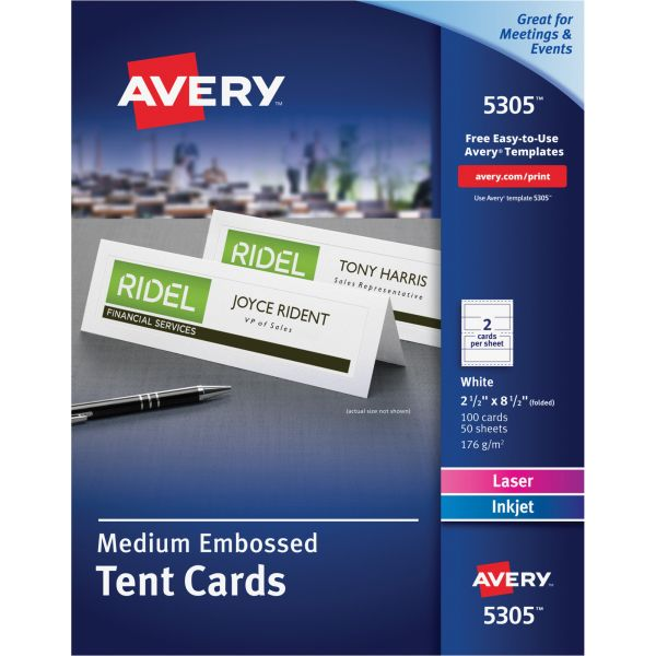 Avery 5305 Medium Embossed Tent Cards