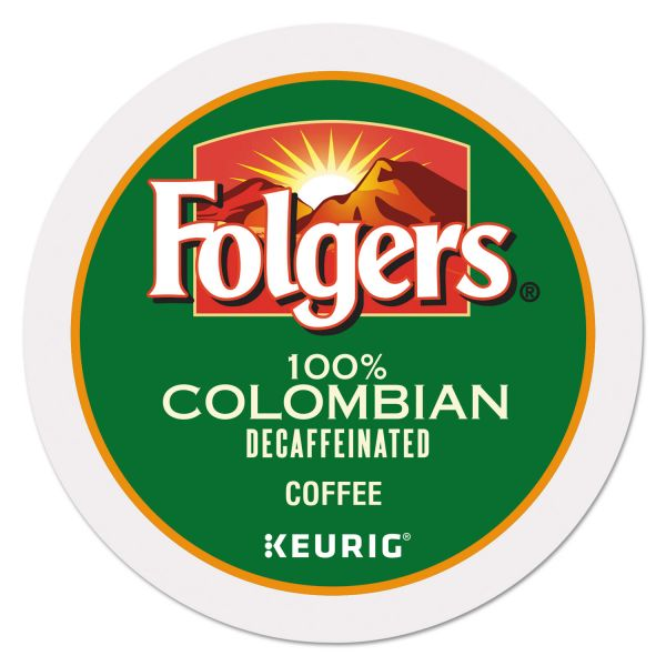 Folgers 100% Colombian Decaf Coffee K-Cups, 24/Box