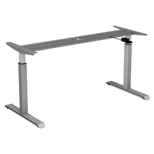 """Alera Pneumatic Height-Adjustable Table Base, 26 1/4"""" to 39 3/8"""" High, Gray"""