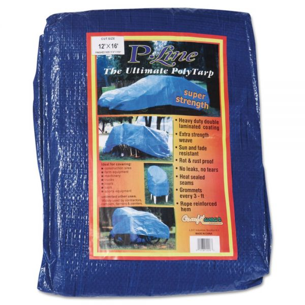 Anchor Brand Multiple Use Tarpaulin, Polyethylene, 12 ft x 16 ft, Blue