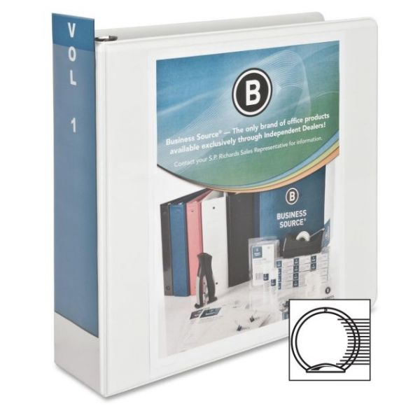 "Business Source Standard 3"" 3-Ring View Binder"