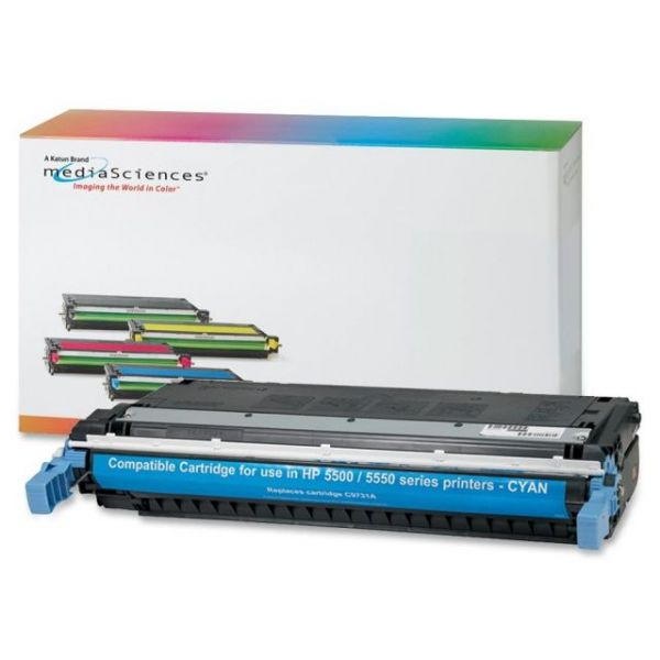 Media Sciences Remanufactured HP 645A Cyan Toner Cartridge