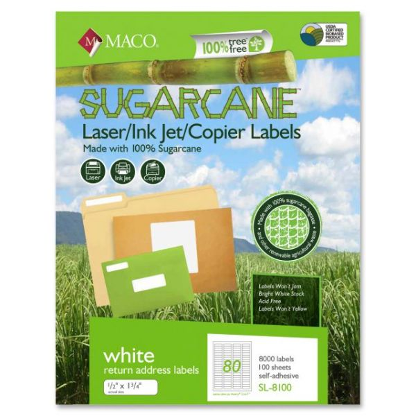 Maco Sugarcane Return Address Labels