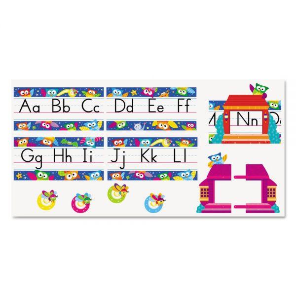Owl-Stars! Alphabet Line Standard Manuscript Bulletin Board Set