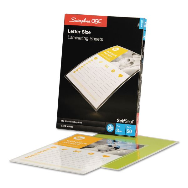 GBC Self-Seal Letter Size Laminating Sheets