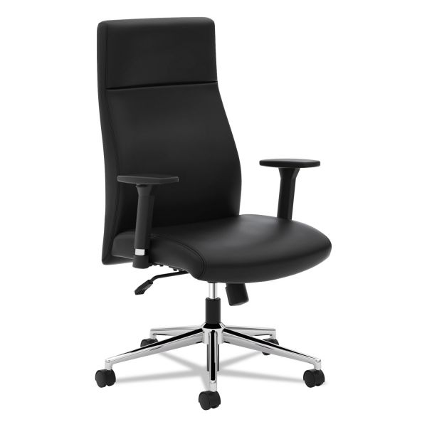 HON VL108 Executive High-Back Chair, Black Leather