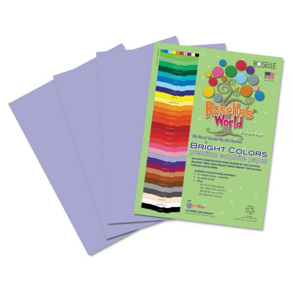 Roselle Premium Sulphite Purple Construction Paper