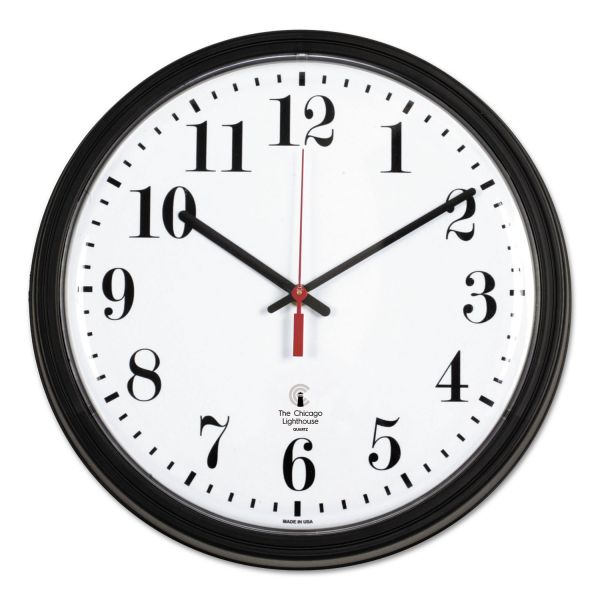 Chicago Lighthouse Contract Wall Clock