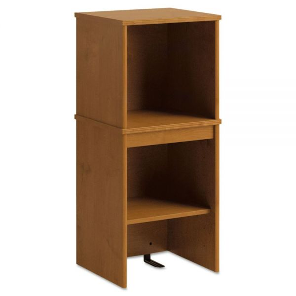 Office Connect by Bush Furniture Furniture Envoy Series Narrow Hutch, 16w x 14-1/4d x 36-1/4h, Natural Cherry