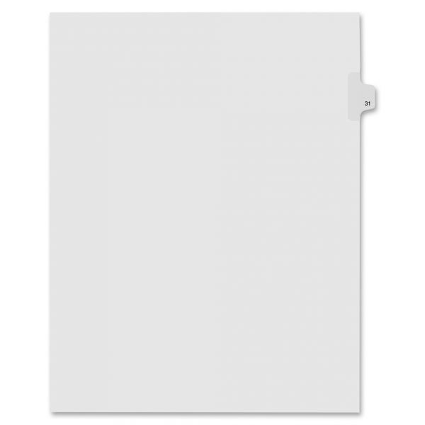 Kleer-Fax Numeric Laminated Tab Index Dividers