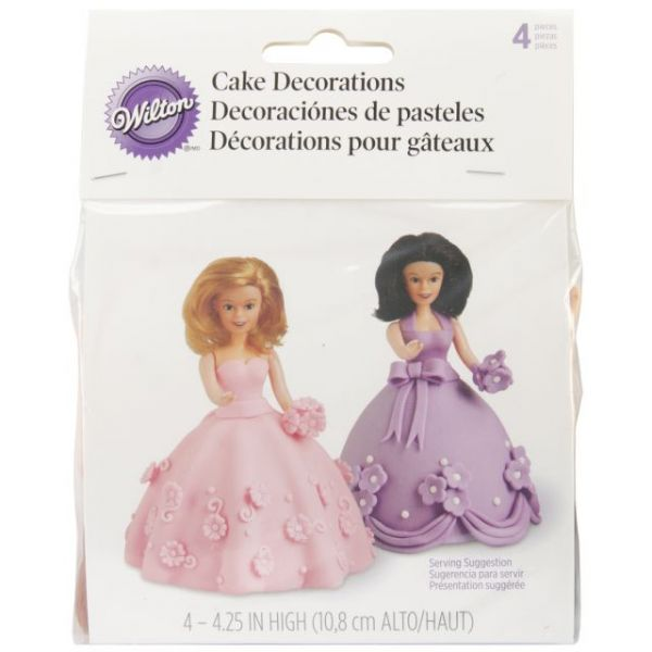 Mini Doll Picks Cake Decorations 4/Pkg