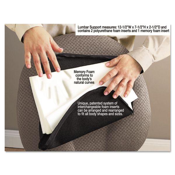 Master Caster Memory Foam Lumbar Support Cushion