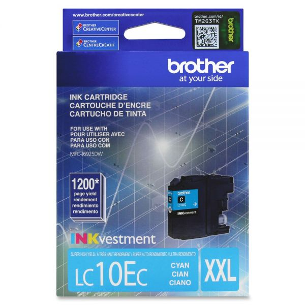 Brother LC10EC Super High Yield Cyan Ink Cartridge