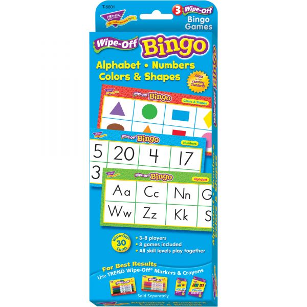 Trend Trend Wipe-Off Alphabet Shapes Bingo Game