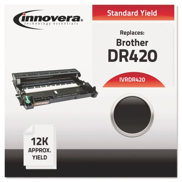 Innovera DR420 Compatible, Remanufactured Drum Unit 12000 Page-Yield, Black