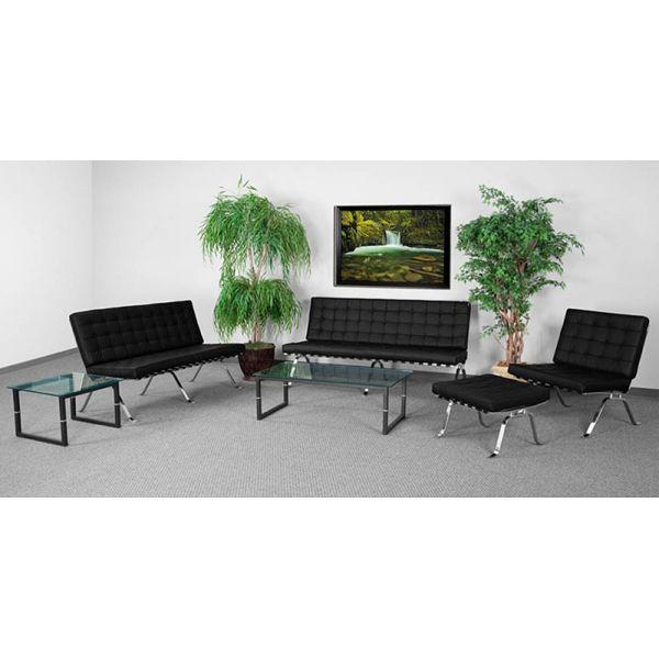 Flash Furniture HERCULES Flash Series Reception Set in Black