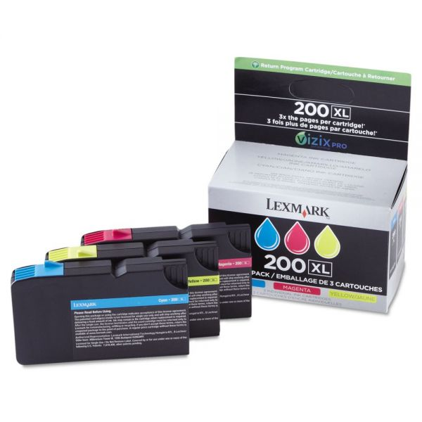Lexmark #200XL High Yield Combo Pack Return Program Ink Cartridges (14L0269)