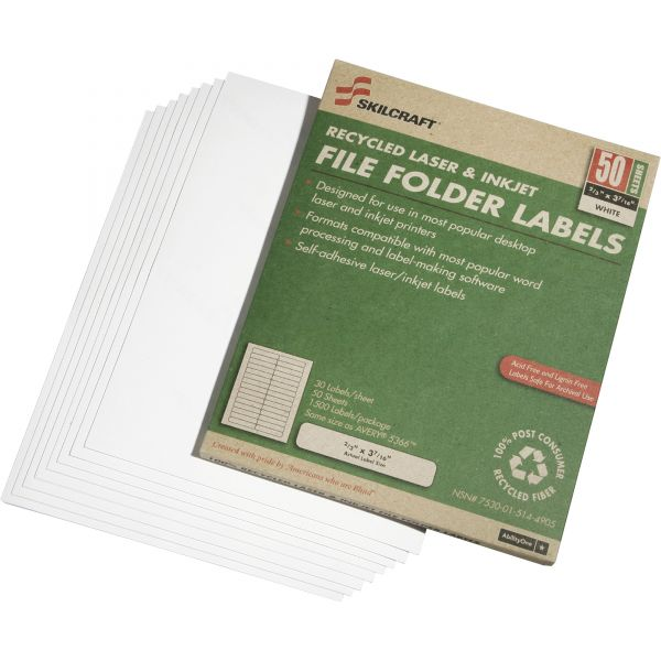 Skilcraft File Folder Labels