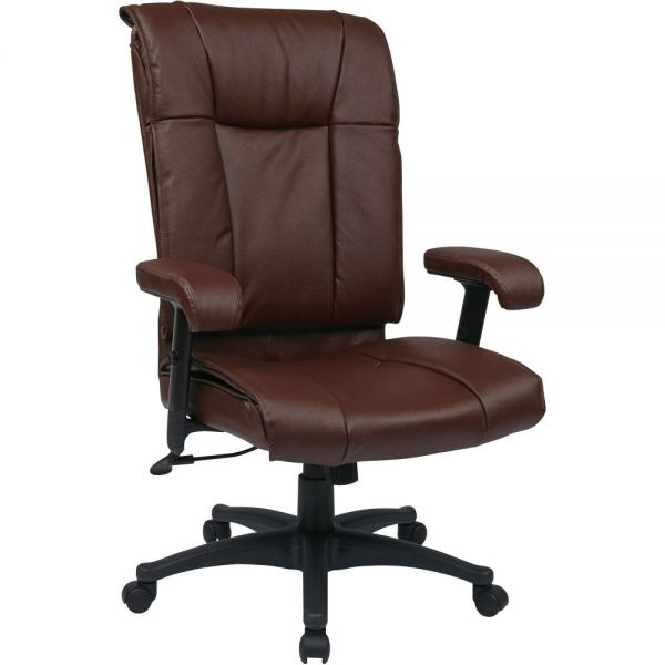 Office Star EX9382 Deluxe Executive High Back Leather Chair