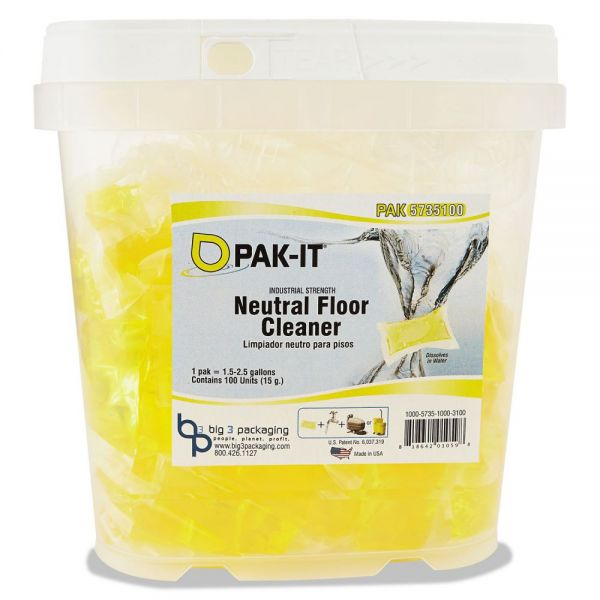 PAK-IT Neutral Floor Cleaner Paks