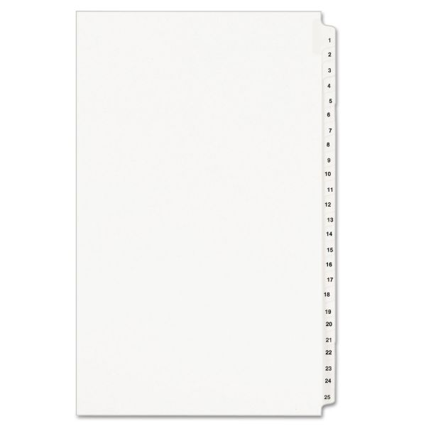 Avery Side Tab Legal Size Legal Index Dividers