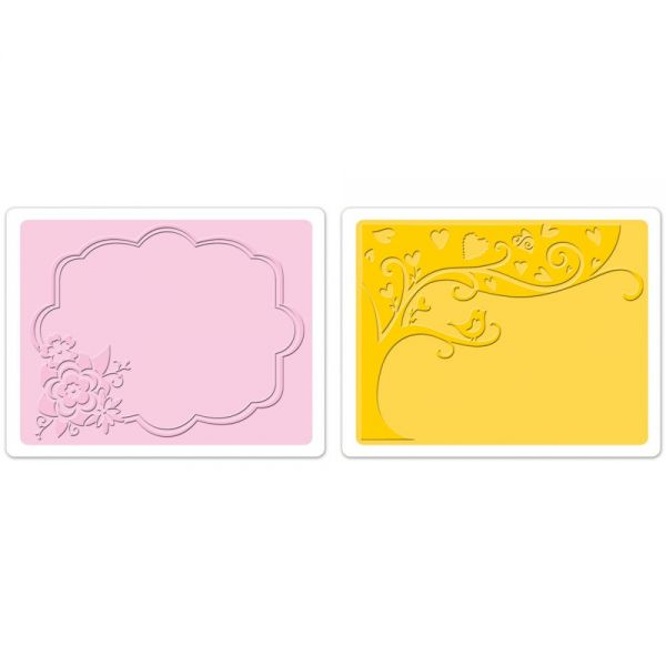 Sizzix Textured Impressions A6 Embossing Folders 2/Pkg