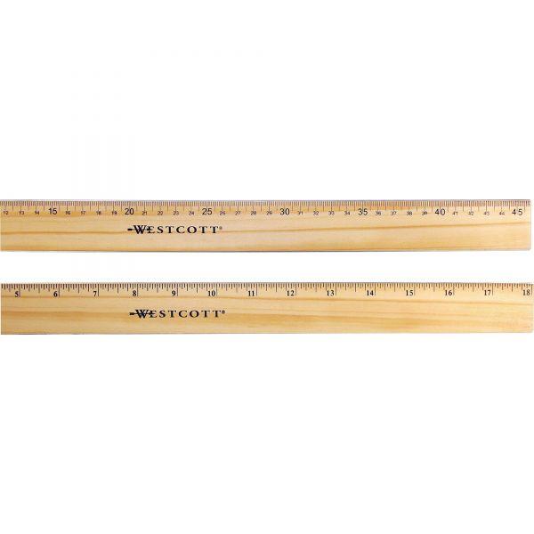 Westcott Flexible Wood/Brass Edge Ruler