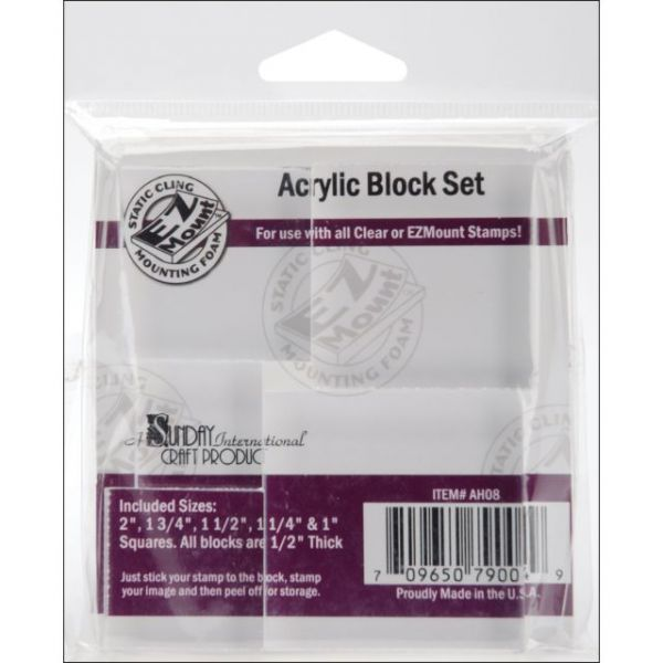 Acrylic Block Set 5/Pkg