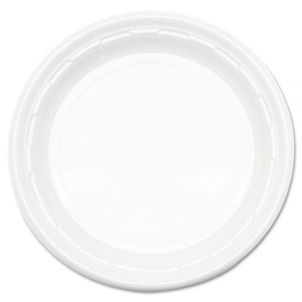"""Dart Famous Service Plastic Dinnerware, Plate, 6"""" dia, WE, 125/Pack, 8 Packs/Carton"""
