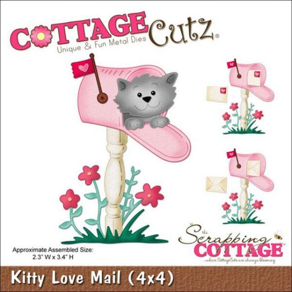 CottageCutz Kitty Love Mail Die