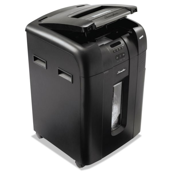 Swingline Stack-and-Shred 600M Hands-Free Micro-Cut Shredder