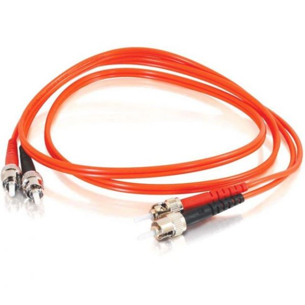 1m ST-ST 62.5/125 OM1 Duplex Multimode Fiber Optic Cable (TAA Compliant) - Orange