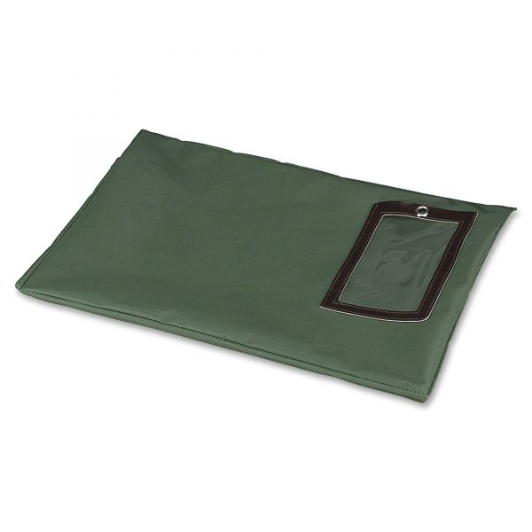 PM Company SecurIT Flat Dark Green Transit Sack, 14w x 11h