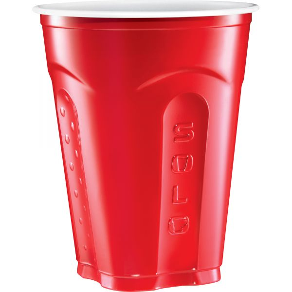 SOLO Squared 18 oz Plastic Party Cups