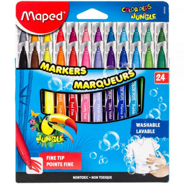 Color'Peps Jungle Fine Tip Washable Markers
