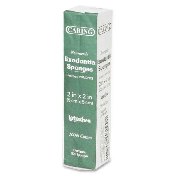 Caring Non-Sterile Dental/Exodontia Sponges