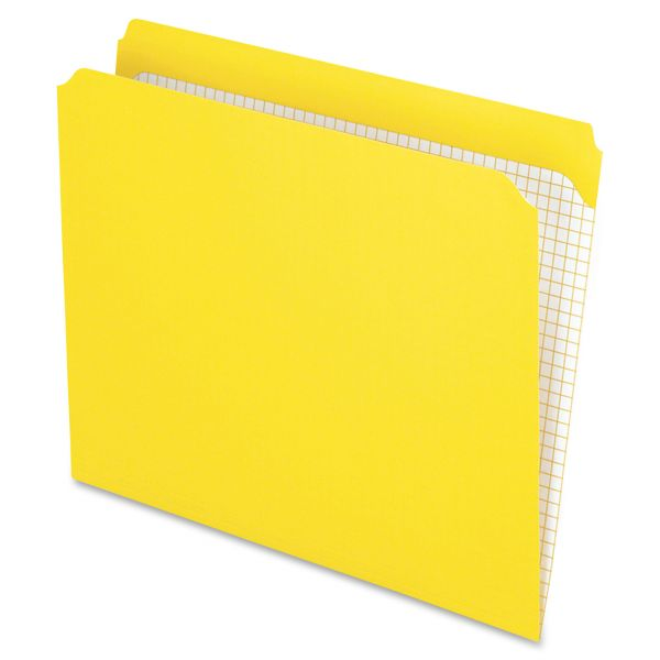 Pendaflex Reinforced Top Tab File Folders, Straight Cut, Letter, Yellow, 100/Box