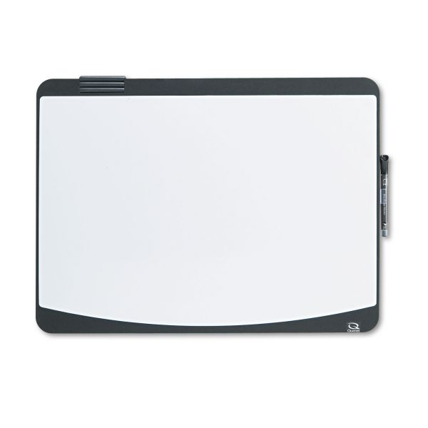 Quartet Tack & Write Board, 23 1/2 x 17 1/2, Black/White Surface, Black Frame