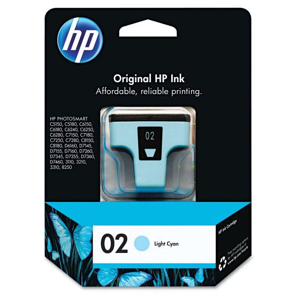 HP 02 Light Cyan Ink Cartridge (C8774WN)