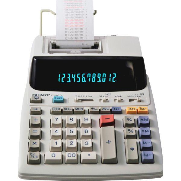 Sharp EL-1801V 12 Digit Printing Calculator