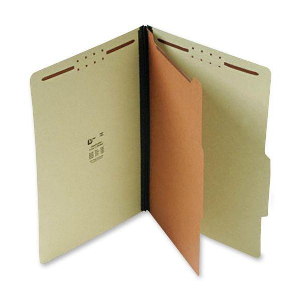 SJ Paper Green Pressboard Classification Folders