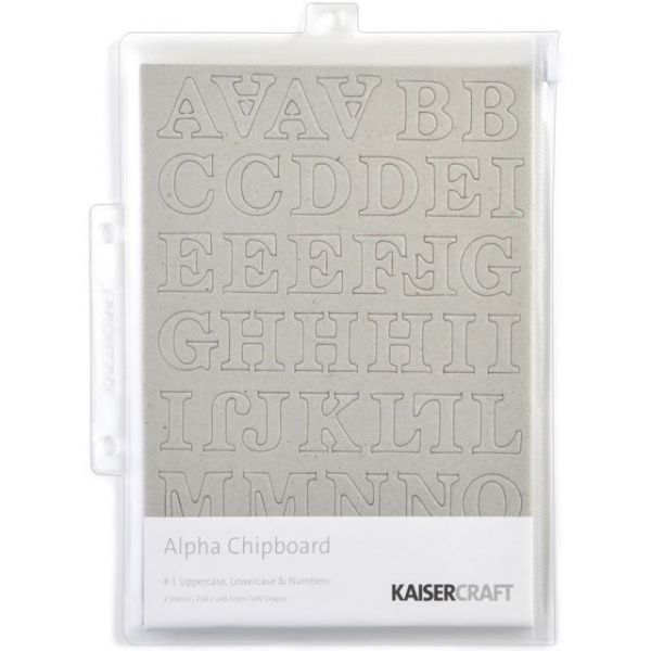 "Chipboard Alphabet #1 8.25""X5.75"" Sheets 3/Pkg"