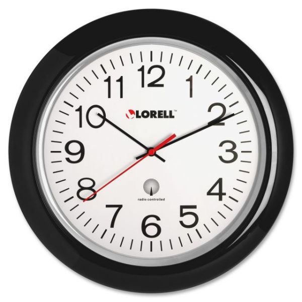 "Lorell 13-1/4"" Radio Controlled Wall Clock"