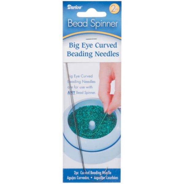 Darice Bead Spinner Big Eye Curved Beading Needles