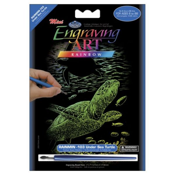 Mini Rainbow Foil Engraving Art Kit