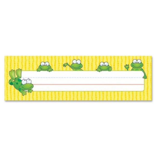 Carson-Dellosa Frogs Desk Name Plates
