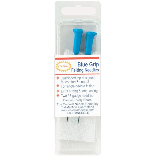 Blue Grip Felting Needles 2/Pkg